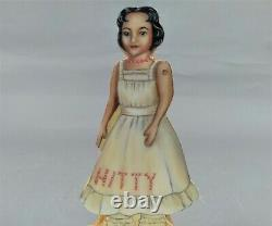 Rare 1997 Mehitable Hitty Laminate Wood Doll and Book Set