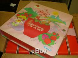Rare 80's Kenner Strawberry Shortcake Story Book Factory Case. Free Shipping