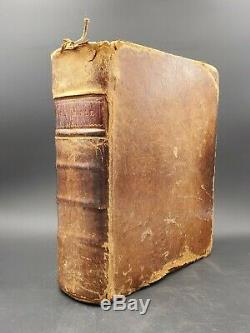 Rare Antique 1808 Leather Holy Bible New & Old Testament Publ. Mathew Carey PA