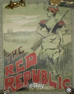 Rare, Antique, 1895, Original Poster, The Red Republic, Chambers, Book Store Ad