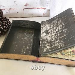 Rare Antique 1913 King Wenceslas Santa Christmas Carol Book Tin Litho Box, Vinta