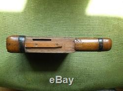 Rare Antique 19th Century Folk Art Treen Oak Wood Puzzle Book Money Box/bank