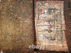 Rare Antique Ancient Egyptian Book 9 Papyrus Gods Hunting judgment protect1830BC