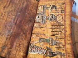 Rare Antique Ancient Egyptian Book 9 papyrus Gods KING Good Health cure 1860 BC