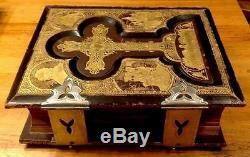 Rare Antique Bible 1881/1882 Leather Bound Gold Gild Douay & Rheims Rev. Haydock