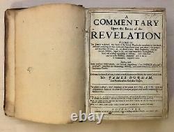 Rare Antique Biblical Commentary Book Revelation James Durham Glasgow Scotland