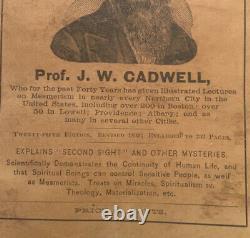 Rare Antique Book 1893 How To Mesmerize Hypnotism / spiritualism Softcover