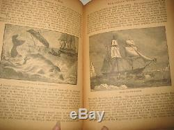 Rare Antique Book Savage World Animals Dinosaurs Monsters Darwinism 1500 Picts