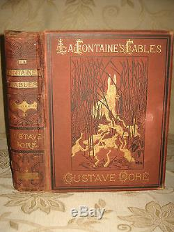 Rare Antique Collectable Book Of The Fables Of La Fontaine c1870