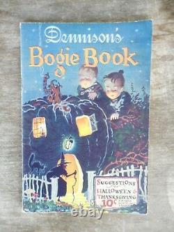 Rare Antique Dennison's Bogie Book 1925 Halloween & Thanksgiving Decorations