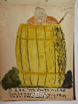 Rare Antique Edwardian Autograph & Sketch Art / Watercolour Book Suffragette J