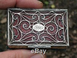 Rare Antique Georgian George III Period Filigree Silver Needle Case / Book
