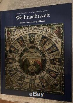 Rare Antique German Christmas Ornament Book By Alfred Dunnenberger, In German
