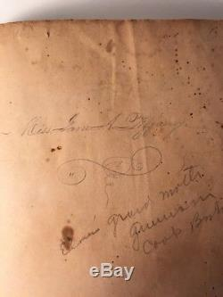 Rare Antique Handwritten Cookbook Love Poem Family Tree Book Jane Tiffany