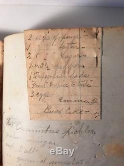 Rare Antique Handwritten Cookbook Love Poem Family Tree Book Jane