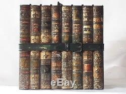 Rare Antique Huntley & Palmers The Library Books Biscuit Tin C1901