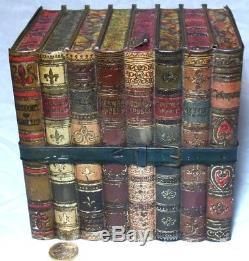 Rare Antique Huntley&palmers Literature Figural Books Biscuit Tin C1901