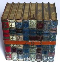 Rare Antique Huntley&palmers Waverly Figural Books Biscuit Tin C1903