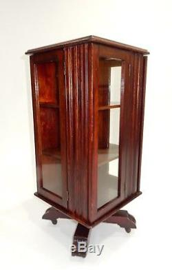 Rare Antique Mission Arts and Crafts Revolving Book Case 32 inches