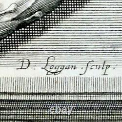 Rare Antique Print David Loggan King England Charles Etching Book Royal Britain