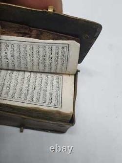 Rare Antique Quran Koran Book Smallest Arabic Islamic Manuscript