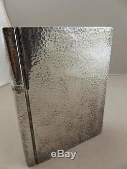 Rare Antique Sterling Silver Novelty Book -Shaped Flask