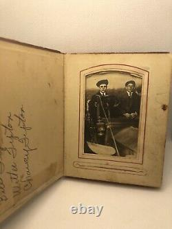 Rare Antique Tipton Family Photo Post Card Album Amazing Book With Photos