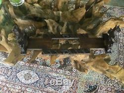 Rare Antique Vintage Black Forest Bear Extending Sliding Book Slide/Trough/Stand
