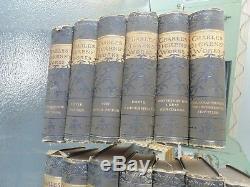 Rare Antique Vintage Charles Dickinson 13 Book Set Oliver Twist & More