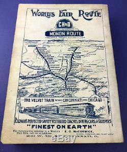 Rare Antique Vintage Cook Book Martha Washington CH&D Railroad World's Fair 1892