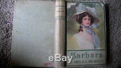 Rare Antique c1880 Barbara By MISS M. E. BRADDON Illustrated By Archie Gunn