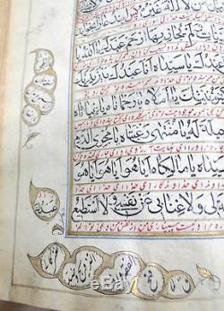 Rare! Antique magnificent Manuscript calligraphy Book