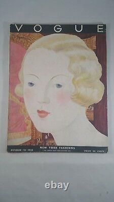 Rare! Beautiful! Full Issue Vintage Vogue Magazine Lepape Cover 1932