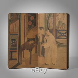Rare China Print Ink Painting Book West Chamber Love Story Great Collection