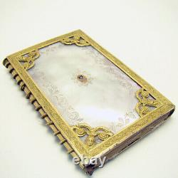 Rare Dance Calling Card Book with Mother of Pearl and Cloisonne Inlay 1820's