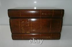 Rare George III Birds Eye Maple & Mahogany Stack of Books Tea Caddy