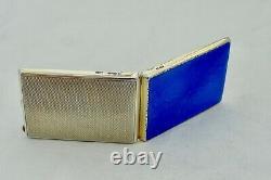 Rare George V Hm Sterling Silver & Enamel Match Book Case 1929