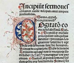 Rare Incunable 1489'Sermones Discipuli.' Johannes Herolt. Strassburg Imprint
