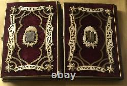 Rare Old Vintage Antique Jewish 2 Prayer Books Hebrew Rosh Hashanah 1879