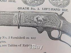 Rare Original Antique 1901 Marlin Guns Rifles Ammo Ammuntion Shells Catalog Book