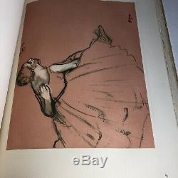Rare Original Vintage Lithographs Art Book Degas / Denis Rouart 1948 16 Pieces