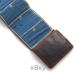 Rare SMALL Antique Shaker Leather Needle Book AAFA