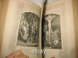Rare Scripture Bible History Victorian Antique Book Christian Jesus 300 Picts