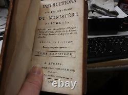 Rare Secret 1803 Antique Book Safe Ministere Pastoral Instructions Leather
