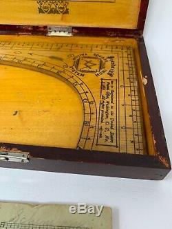 Rare Standard Square Inch Tailor System Square Victor Measure Book Box 19-496