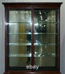 Rare Victorian Haberdashery Apothecary Shops Cabinet Fully Glazed Door Bookcase