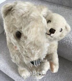 Rare Vintage Dean's Rag Book Ivy & Brumas Polar Bear Teddy Bears With Labels 1949