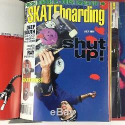 Rare Vintage Transworld skateboarding Magazine Lot of 11 Issues 1991 Volume 9