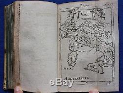 Rare antique book / atlas Europaische Justinus 56 x Mallet maps & plates, 1689