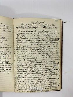 Rare antique journal Diary 1800's to 1920s Garfield assassination Hand Written
